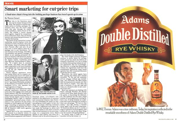 Article Preview: Smart marketing for cut-price trips, April 1981 | Maclean's