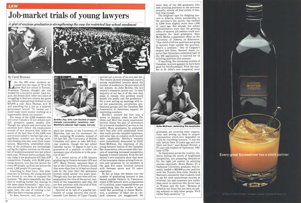 Article Preview: Job-market trials of young lawyers, April 1981 | Maclean's
