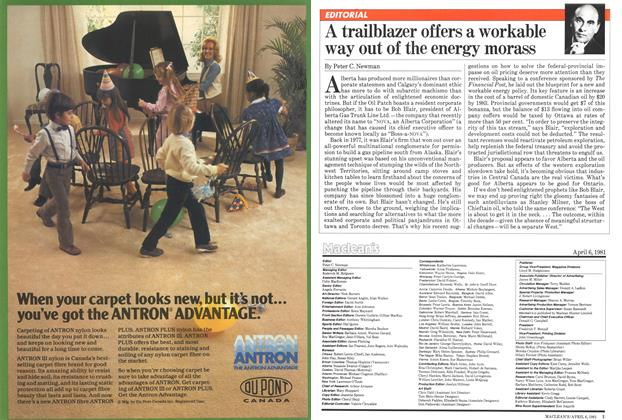 Article Preview: A trailblazer offers a workable way out of the energy morass, April 1981 | Maclean's