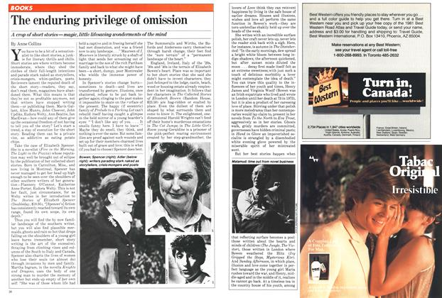 Article Preview: The enduring privilege of omission, April 1981 | Maclean's
