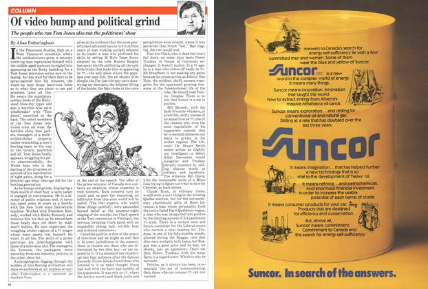 Article Preview: Of video bump and political grind, April 1981 | Maclean's