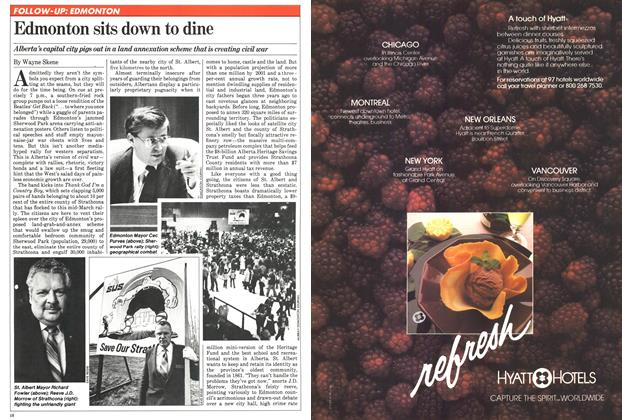 Article Preview: Edmonton sits down to dine, April 1981 | Maclean's