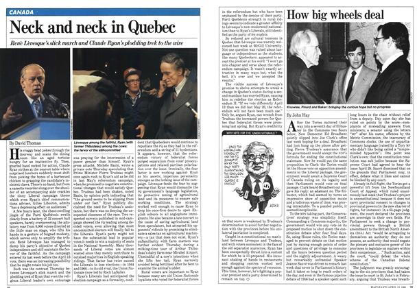 Article Preview: Neck and neck in Quebec, April 1981 | Maclean's