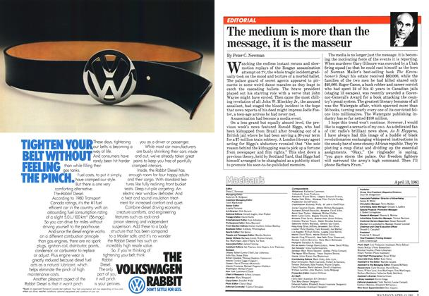 Article Preview: The medium is more than the message, it is the masseur, April 1981 | Maclean's
