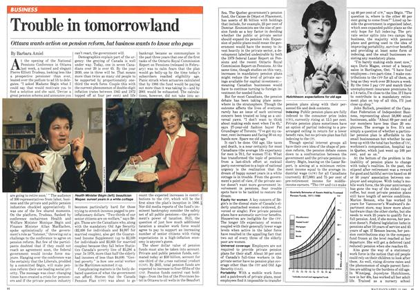 Article Preview: Trouble in tomorrowland, April 1981 | Maclean's