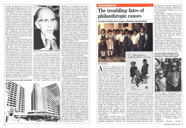Article Preview: The troubling fates of philanthropic causes, April 1981 | Maclean's