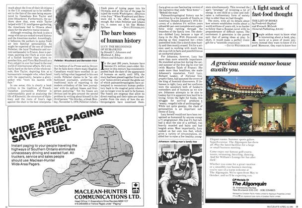 Article Preview: A light snack of fast-food thought, April 1981 | Maclean's
