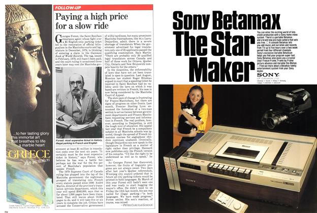 Article Preview: Paying a high price for a slow ride, April 1981 | Maclean's