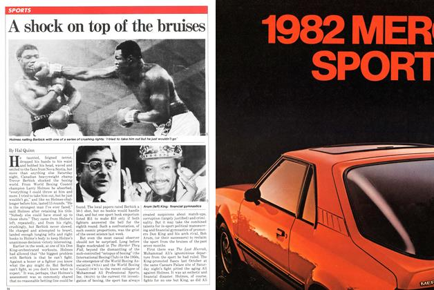 Article Preview: A shock on top of the bruises, April 1981 | Maclean's