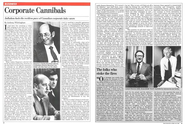Article Preview: Corporate Cannibals, April 1981   Maclean's