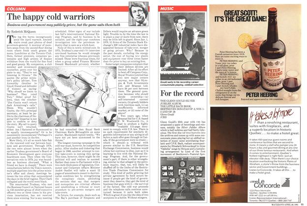 Article Preview: The happy cold warriors, April 1981 | Maclean's