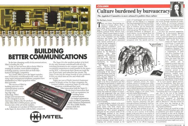 Article Preview: Culture burdened by bureaucracy, April 1981 | Maclean's