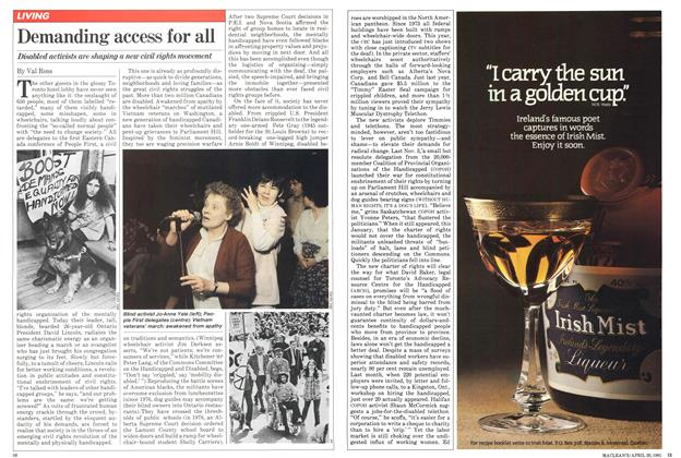 Article Preview: Demanding access for all, April 1981 | Maclean's