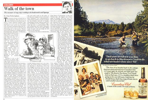 Article Preview: Walk of the town, April 1981 | Maclean's