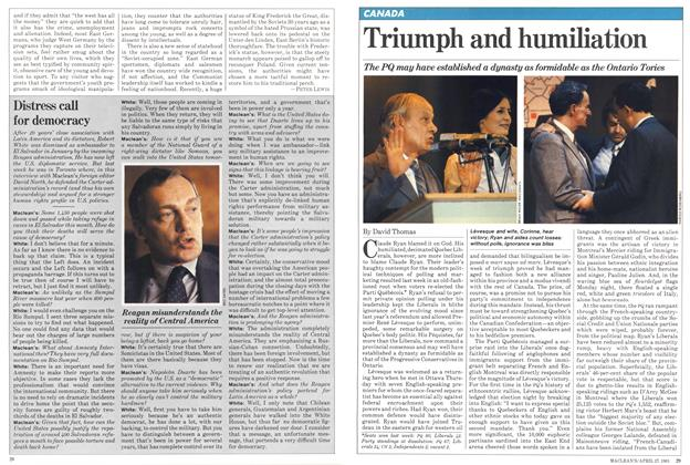 Article Preview: Triumph and humiliation, April 1981 | Maclean's