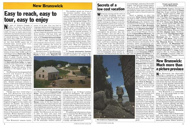Article Preview: New Brunswick: Much more than a picture province, April 1981   Maclean's