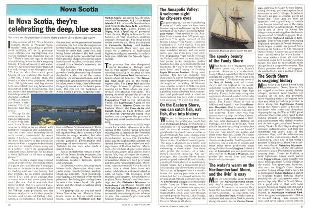 Article Preview: In Nova Scotia, they're celebrating the deep, blue sea, April 1981   Maclean's