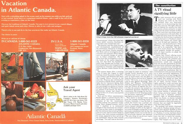 Article Preview: A TV ritual signifying little, April 1981 | Maclean's