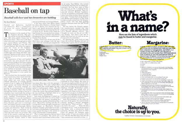 Article Preview: Baseball on tap, April 1981 | Maclean's