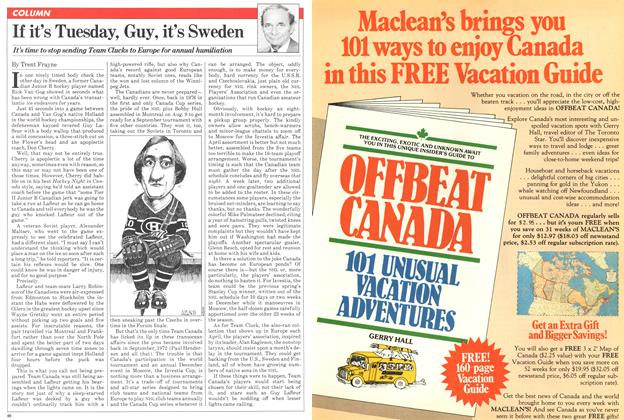Article Preview: If it's Tuesday, Guy, it's Sweden, April 1981 | Maclean's