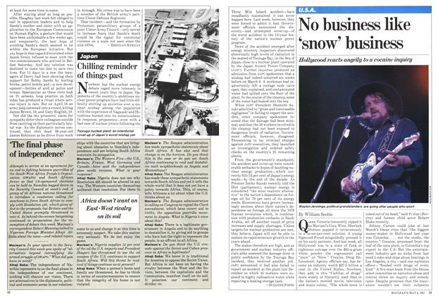 Article Preview: No business like 'snow' business, May 1981 | Maclean's