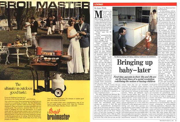 Article Preview: Bringing up baby-later, May 1981 | Maclean's