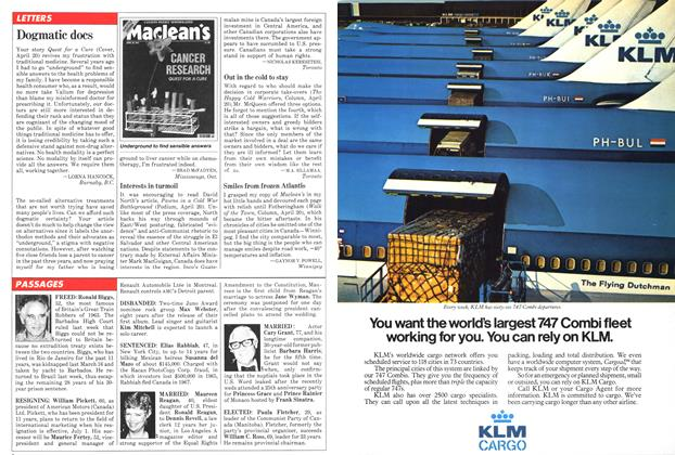 Article Preview: Dogmatic docs, May 1981 | Maclean's