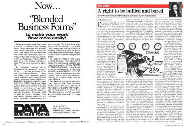 Article Preview: A right to be bullied and bored, May 1981 | Maclean's