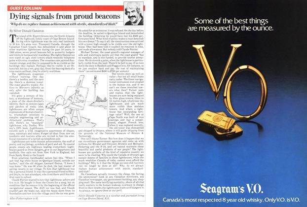 Article Preview: Dying signals from proud beacons, May 1981 | Maclean's