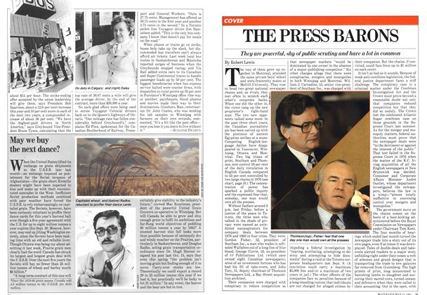 Article Preview: THE PRESS BARONS, May 1981 | Maclean's