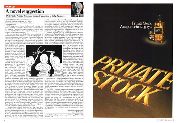 Article Preview: A novel suggestion, May 1981 | Maclean's