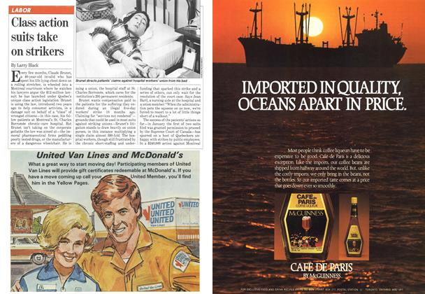 Article Preview: Class action suits take on strikers, May 1981   Maclean's