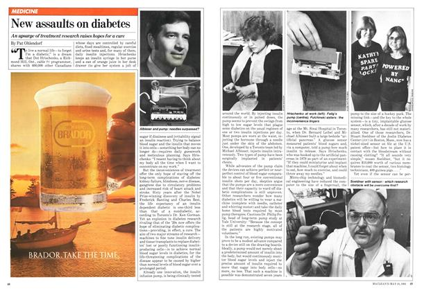 Article Preview: New assaults on diabetes, May 1981 | Maclean's