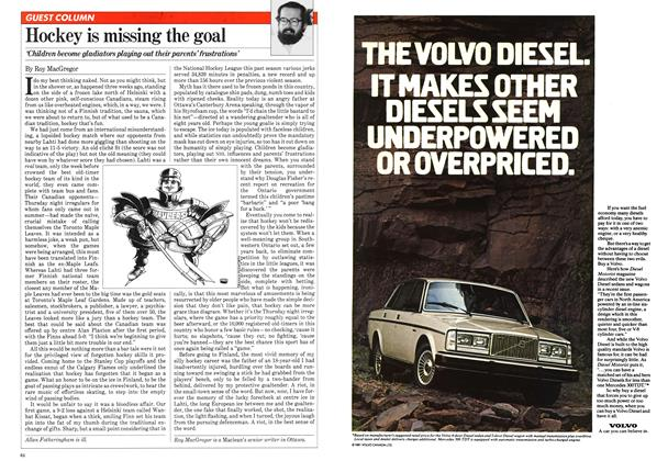 Article Preview: Hockey is missing the goal, May 1981 | Maclean's