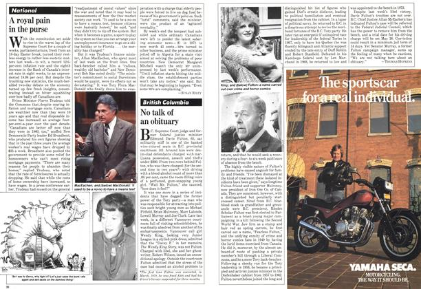 Article Preview: A royal pain in the purse, May 1981 | Maclean's