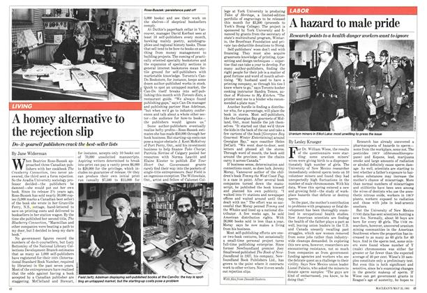 Article Preview: A homey alternative to the rejection slip, May 1981 | Maclean's