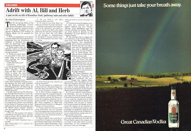 Article Preview: Adrift with Al, Bill and Herb, May 1981 | Maclean's