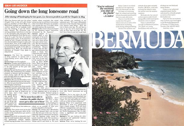 Article Preview: Going down the long lonesome road, May 1981 | Maclean's