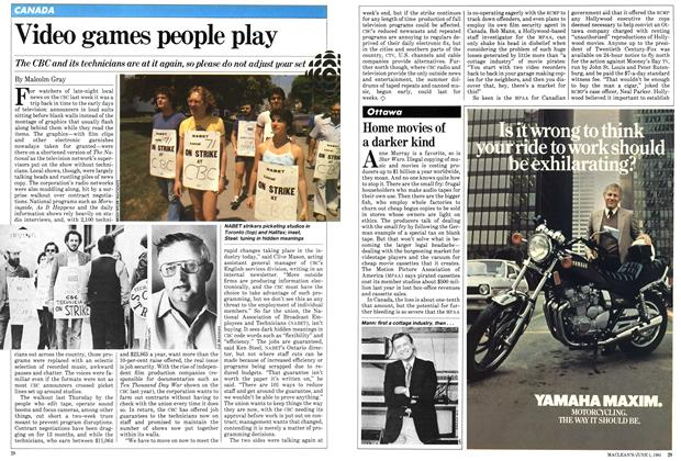 Article Preview: Home movies of a darker kind, June 1981   Maclean's