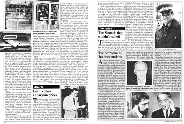 Article Preview: The bedrooms of 'les deux nations', June 1981 | Maclean's