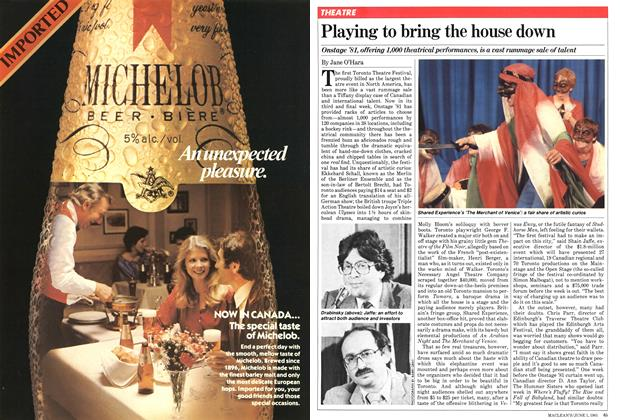 Article Preview: Playing to bring the house down, June 1981 | Maclean's