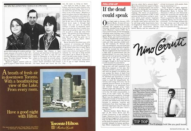 Article Preview: If the dead could speak, June 1981 | Maclean's