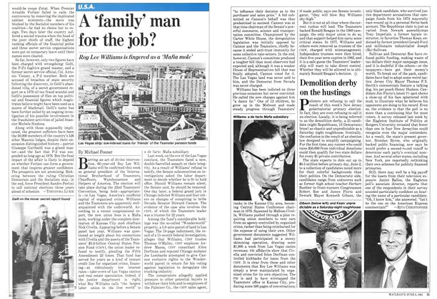 Article Preview: A 'family' man for the job?, June 1981 | Maclean's