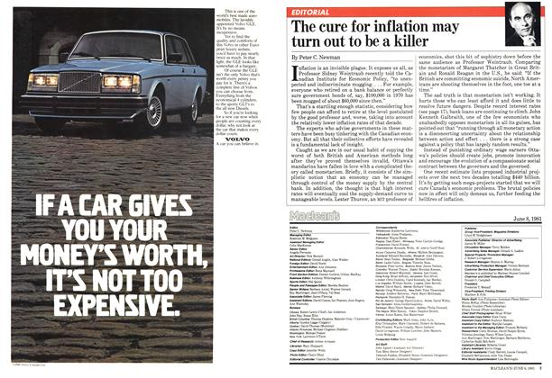 Article Preview: The cure for inflation may turn out to be a killer, June 1981 | Maclean's