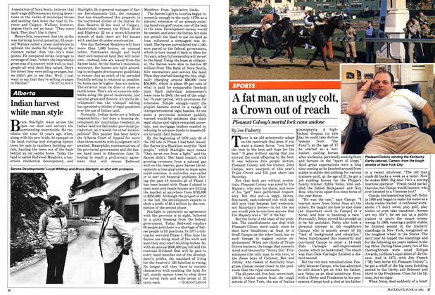 Article Preview: A fat man, an ugly colt, a Crown out of reach, June 1981 | Maclean's