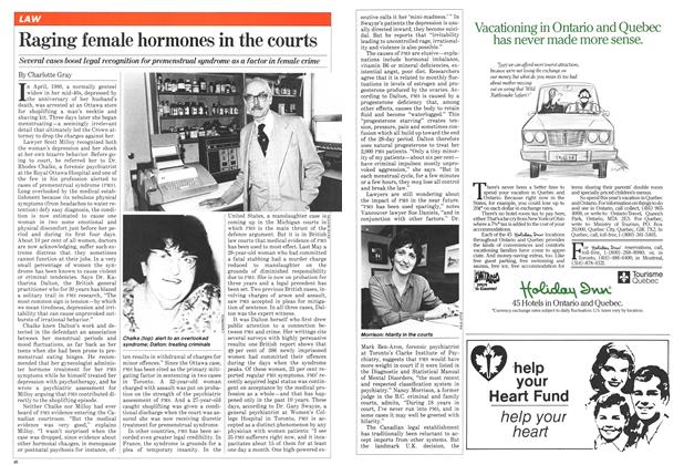 Article Preview: Raging female hormones in the courts, June 1981 | Maclean's