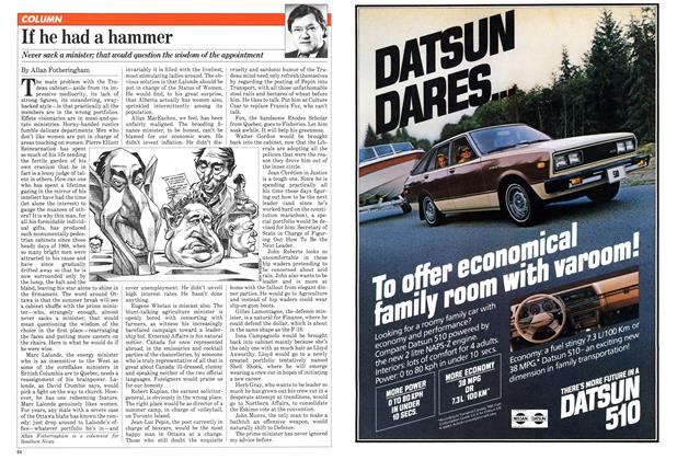 Article Preview: If he had a hammer, June 1981 | Maclean's