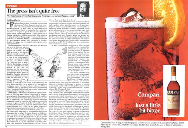 Article Preview: The press isn't quite free, June 1981 | Maclean's