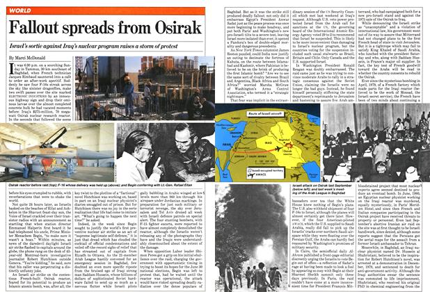 Article Preview: Fallout spreads from Osirak, June 1981 | Maclean's