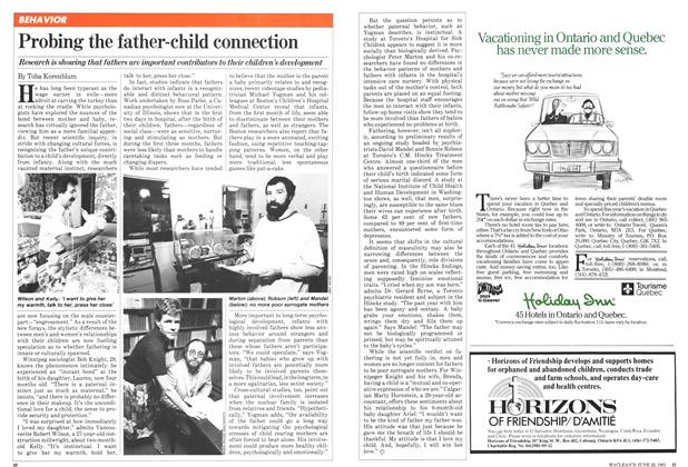 Article Preview: Probing the father-child connection, June 1981 | Maclean's